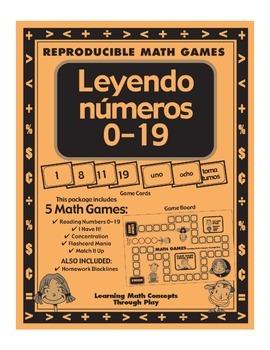 LEYENDO NUMEROS 0-19 - Math Games and Lesson Plans
