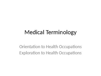 LFS (learning focus strategy)  Medical Terminology Lesson and Resource Bundle