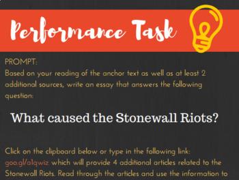 LGBT History-Language Arts Stonewall Riots (Cultural Advocacy)