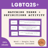 LGBT Matching Terms and Definitions