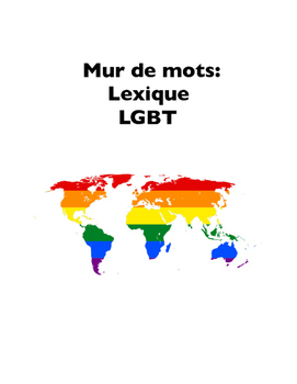 LGBT Terms in French (Word Wall), or Mur de mots: Lexique LGBT
