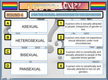 LGBT and LGBTQ+ Sexuality 2018 Quiz