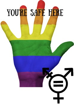 LGBT and transgendered safety sign