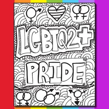 gay coloring pages LGBTQ Pride Zen Doodle Coloring Pages by Ms Artastic | TpT gay coloring pages