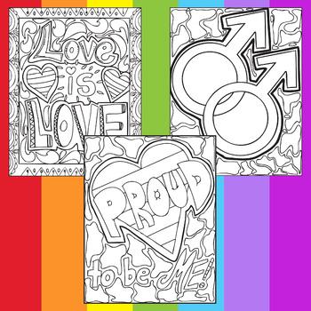 LGBTQ Pride Zen Doodle Coloring Pages