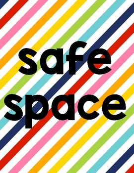 LGBTQ+ Safe Space Posters