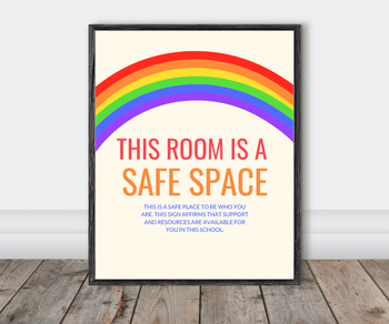 LGBTQ+ Safe Space Sign Poster