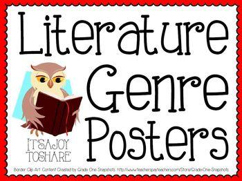 Genre Posters (+ Bonus Worksheet!)