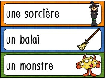 L'Halloween - French Halloween - mur de mots et lexique
