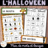 L'Halloween - French Halloween - mur de mots et lexique