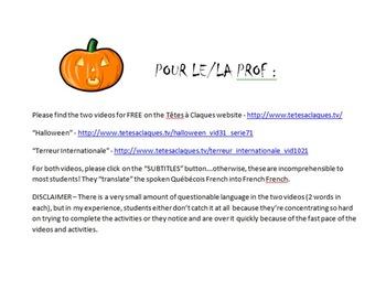 L'Halloween avec Têtes-à-Claques - Intermediate French Video Lesson