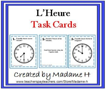 L'Heure Task Cards