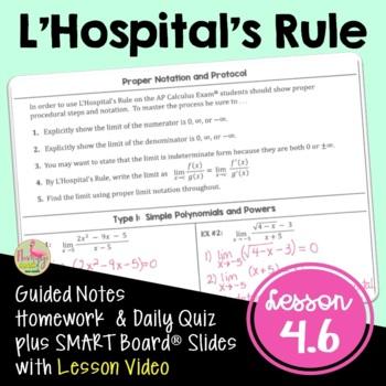 Calculus: L'Hopital's Rule
