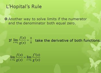 L'Hopital's Rule (PP)