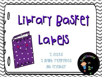 LIBRARY BASKET LABLES