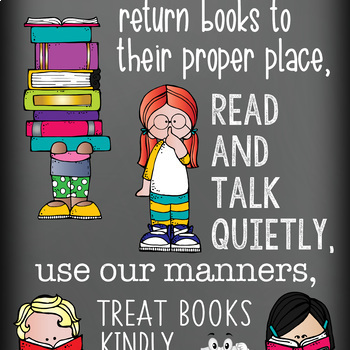 library CHALK - Classroom Decor: LARGE BANNER, In Our Library