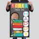 library CHALK - Classroom Decor: SMALL BANNER, Books Make Me Happy