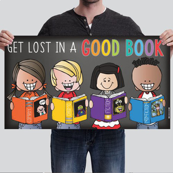 library CHALK - Classroom Decor: SMALL BANNER, Get Lost In A Good Book