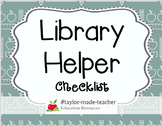 LIBRARY HELPER Checklist {Editable Word DOC Template}