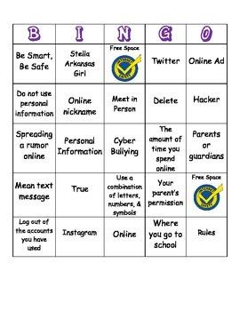LIBRARY MEDIA CENTER - Internet Safety Bingo