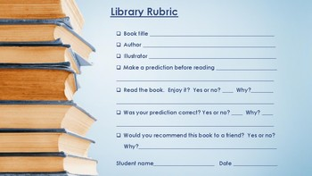 LIBRARY RUBRIC