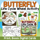 LIFE CYCLE OF A BUTTERFLY {posters/activity wheels/vocabulary cards}