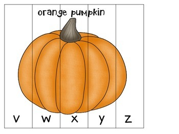 LIFE CYCLE OF A PUMPKIN PUZZLE LOWERCASE ABC ORDER