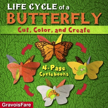 LIFE CYCLE of a BUTTERFLY: A Cut, Color, and Create Cycleb