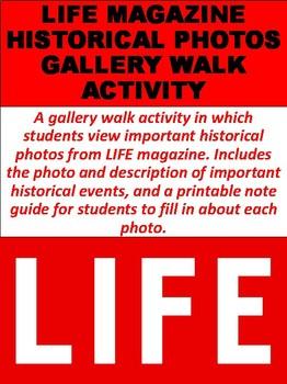 LIFE Magazine Historical Photos Gallery Walk Activity