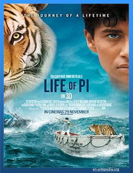 LIFE OF PI - Squeeze out the best with background and  reading activities.