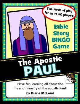 Bible Story Bingo - LIFE OF THE APOSTLE PAUL