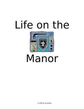 LIFE ON THE MANOR role play medieval history heritage social studies activity