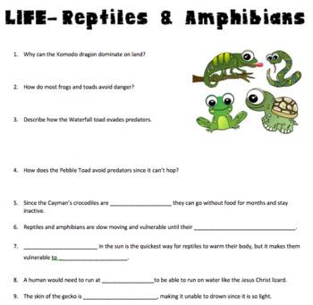 LIFE-Reptiles & Amphibians Video Questions