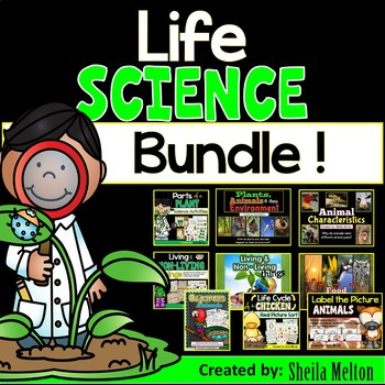 LIFE SCIENCE Real Picture Sorts, Activities and PowerPoints BUNDLE