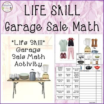 LIFE SKILL Garage Sale Math Activity