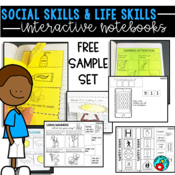 LIFE SKILLS AND SOCIAL SKILLS INTERACTIVE NOTEBOOK FREE SAMPLE