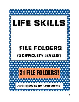 LIFE SKILLS File Folders Bundle