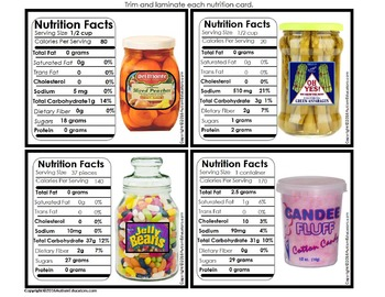 LIFE SKILLS Reading Nutrition Labels and Matching Work Task for Autism