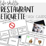 Restaurant Etiquette Task Cards - Life Skills