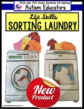 LIFE SKILLS Sorting and Matching Laundry for Special Educa
