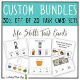 LIFE SKILLS TASK CARDS CUSTOM DISCOUNTED BUNDLES