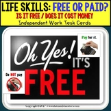 "LIFE SKILLS Task Cards Is it FREE or DO I NEED TO PAY ""Task Box Filler"" AUTISM"