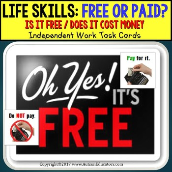 LIFE SKILLS Task Cards Is it FREE or DO I NEED TO PAY - In