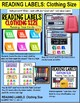 "LIFE SKILLS Task Cards - Reading Labels CLOTHING SIZE ""Task Box Filler"" Autism"