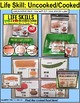 """LIFE SKILLS Task Cards UNCOOKED and COOKED FOODS """"Task Box Filler"""" Autism"""