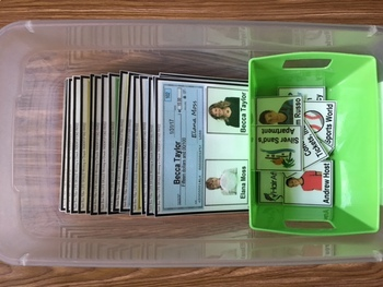 "LIFE SKILLS Task Cards for Upper Grades IDENTIFY CHECK PAYEE ""Task Box Filler"""