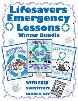 WINTER BUNDLE  ~ NO PREP SUBSTITUTE / EMERGENCY LESSON PLANS