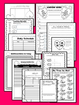 VALENTINES  ~ NO PREP SUBSTITUTE / EMERGENCY LESSON PLANS