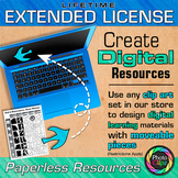 LIFETIME EXTENDED LICENSE FOR DIGITAL RESOURCES {MOVEABLE PIECES}
