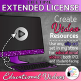 LIFETIME EXTENDED LICENSE FOR EDUCATIONAL VIDEO USE {CREAT